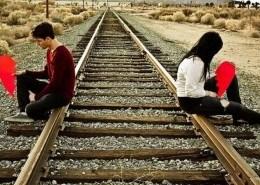 sad breakup couple