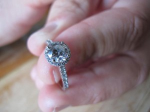 An engagement ring