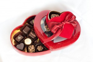Romantic box of chocolate