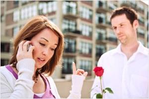 Girl ignoring guy