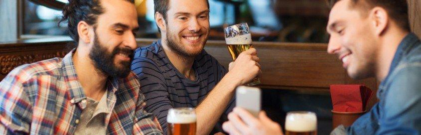 men having fun together
