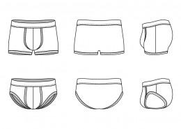 Blank Men's underwear