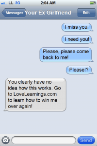 How to get your ex boyfriend back through text