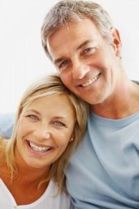 Couple with big smiles