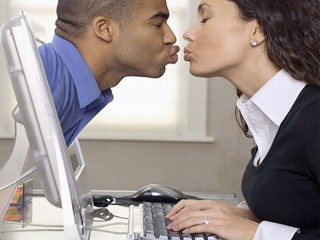 internet dating couple