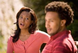 Woman concerned about boyfriend