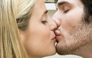 Couple in lip lock