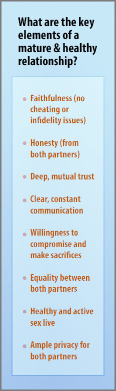 key points for mature relationships