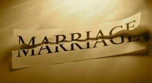 Broken marriage sadness