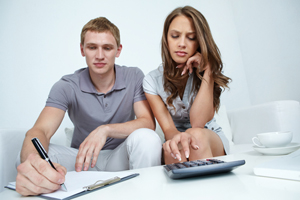 Couple figuring out their finances