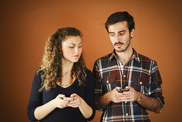 Couple jealous over cell phone use