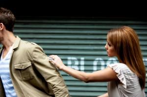 Woman pursuing man