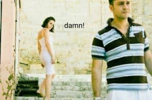 woman checking out a man
