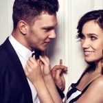 man and woman flirting