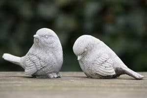 two birds made of stone