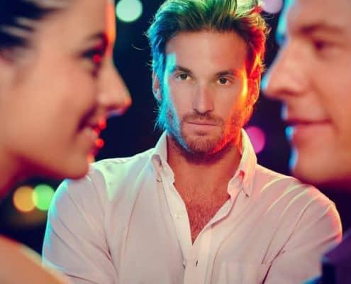 jealous man looking at ex