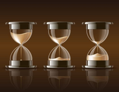 Time running out hourglasses