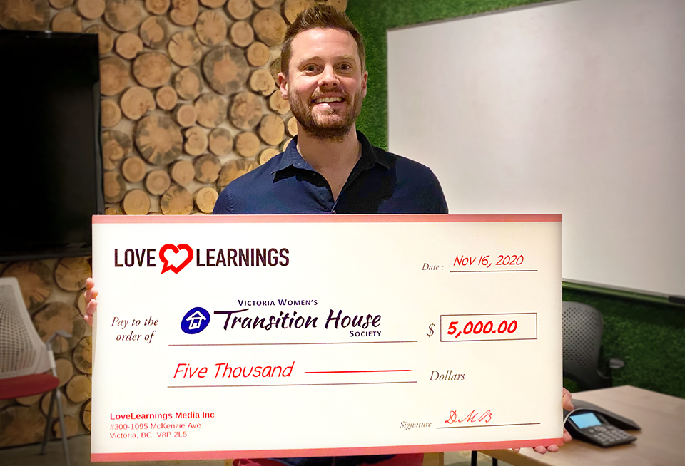 LoveLearnings Donation Cheque